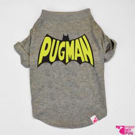 """Tshirt grigio melangè """"Pugman"""""""