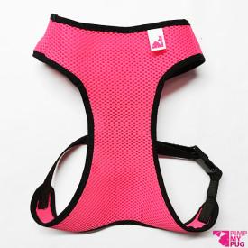 Pettorina confort in tessuto tecnico traspirante rosa fluo