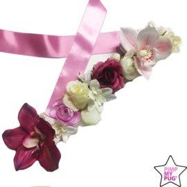 collare in avorio con fiori