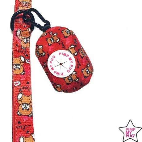 Portasacchetti per cani stampa teddy