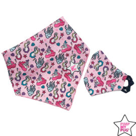 set mini me bandana e mascherina